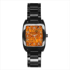 Halloween Spider Barrel Style Watch (Leather & Stainless Steel Straps)