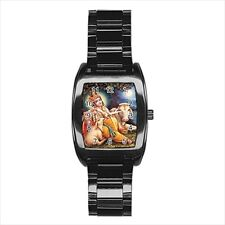 Lord Krishna Hindu Barrel Style Watch (Leather & Stainless Steel Straps)
