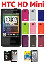 AMZER Silicone Skin Jelly Soft Cover + extra Case/ Screen Protector HTC HD Mini