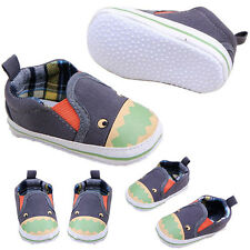 0-18M Infant Baby Boy Girl Canvas Printing Prewalker Anti-slip Soft Sole Shoes