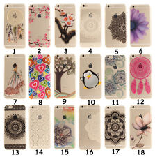 New Rubber Flower Silicone Clear Soft TPU Cute Back Cover Case For iPhone Xiaomi