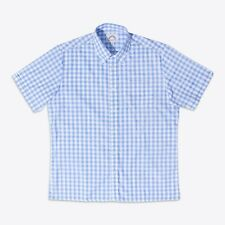 Brutus 4401-116 MENS Greatfit Button Down Check Shirt Sky Blue Large Gingham