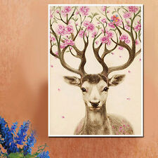 5D Diamond *Painting Sika DEER Embroidery  Cross Stitch Craft Office Home Decor*