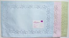 Spring Easter Placemats Bouquet Floral Cutwork Set of 4 Blue Pink or Green New