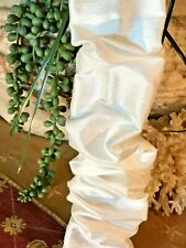 SALE Chandelier Chain Cord Cover~HOOK n LOOP~White Silk (3 FT) (6 FT) (9 FT)