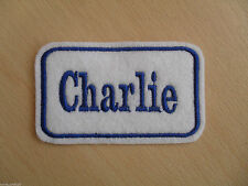 Personalised Name Patch - Various Colours - Any Name Added - Iron On Free P&P