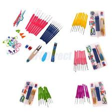 57pcs Crochet Hooks Needles Stitches Knitting Craft Case Yarn Hook Sewing Tools
