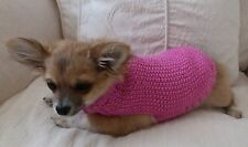 "7"" Female/Unisex Hand Made Small Dog/Puppy/Tea Cup chihuahua Jumper/ Coat. DK"