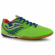 Joma Super Sonic Indoor Football Futsal Trainers Mens Lime/Blue Soccer Sneakers