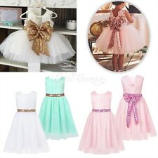 Toddler Baby Girl Tutu Dress Princess Sequin Party Birthday Pageant Kids Dresses