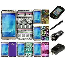 For Samsung Galaxy J7 Snap-On Design Rubberized Hard Phone Case Cover Charger
