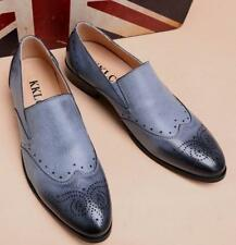 Mens Oxford Brogue Casual Wingtip Faux Leather Shoes loafer Shoes