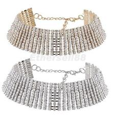 Chic Faux Diamond Full Crystal Rhinestone Choker Necklace Wedding Bridal Jewelry