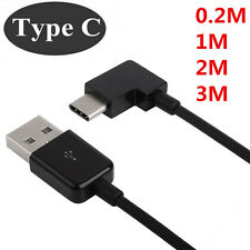 2A Super Fast Type-C USB 3.1 Charger Type C Right Angle 90 Degree Charger cable