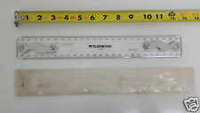 "NOS Teledyne Post 34HK-19G Drafting Machine Scale Ruler 12"" Transparent"