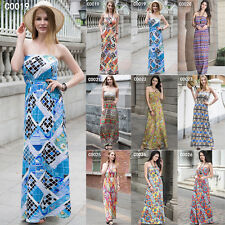 Vintage BOHO WomenS Cocktail Party Summer Maxi Dress Beach Holiday Party SZ 8-20