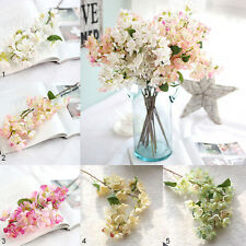 Artificial Cherry Spring Plum Peach Blossom Branch Silk Wedding Flower Bouquet