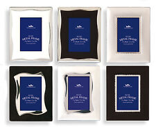 """Set of 3 Mini Silver Metal Photo Frames Hold Photo Size 2"""" x 3"""" Picture Frames"""