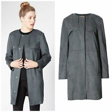 Stunning Grey Faux Suede Trench Coat from Per Una Originally £99
