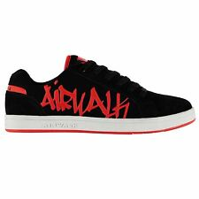 Airwalk Neptune Skate Shoes Mens Black/Red Trainers Sneakers Footwear