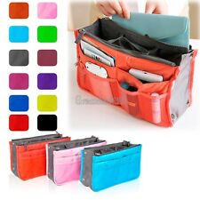 Women Travel Insert Handbag Organiser Purse Large Liner Organizer Zip Tidy Bag