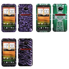 For HTC EVO 4G LTE Design Snap-On Hard Case Phone Skin Cover