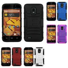 For ZTE Warp 4G Hybrid IMPACT Hard TUFF Hybrid Case Phone Cover
