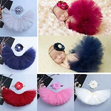 Cute Newborn Baby Toddler Girl Tutu Skirt & Headband Photo Props Costume Outfits