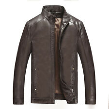 Men's Fashion Slim Leather Jacket Coat Business Outwear Hipster Handsome Classic