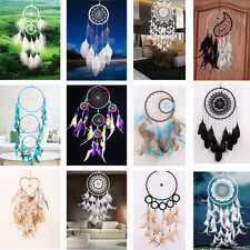 12 Designs Handmade Dream Catcher with Feather Wall Hanging Decoration Ornament