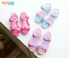 New Cute Children Kids Sandals Youth Girls Party Shoes Open Toe Size 9-2.5