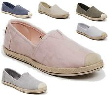 Ladies Flats Sole Womens Girls Slip On Pumps Beach Plimsoles Shoes Size