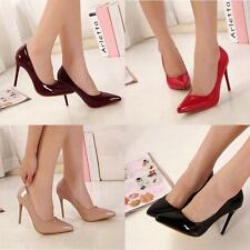 Womens Fashion Pointed Toes Stilettos High Heel Shoes Classic Pumps Pull On New
