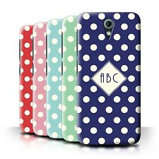 Personalized Custom Polka Dot Phone Case for HTC Desire 620G/Initial/Name Cover