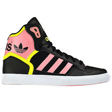 adidas Originals Extaball W Black Ladies High Trainers Shoes High Trainers