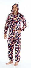 Mens Big Breakfast Lightweight Fleece Onesie with Hood & Pockets Size S/M M/L