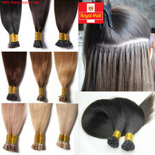 7A Micro Ring Pre Bonded Stick Tip I Tip Real Remy Human Hair Extensions UK N279