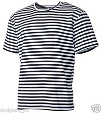 Original Russian Navy Dark Blue Striped Sailor T-Shirt Telnyashka Top Naval