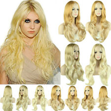 Half Wigs Long Synthetic Hair 3/4 Full Wig Curly Straight Wavy Fancy Dress Sand