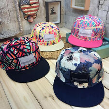 New Fashion Mens Snapback Adjustable Baseball Cap Hip-Hop Hat Cool Floral Print