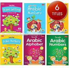 Arabic Alphabet Books Writing Number for Kids Islam Educational Wipe Clean Child