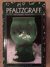 Pfaltzgraff WINTERBERRY SILHOUETTE GREEN FROSTED FLOATING CANDLE New in Box 1998