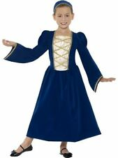 Girls Tudor Princess fancy dress costume outfit Medieval Book Week Queen childs
