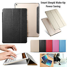 Luxury Smart Slim Sleep Wake UP Flip Leather Case Cover Stand for iPad Air 2