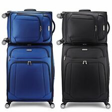 Samsonite Stackit 2 Suitcase Set Softside Spinner Wheels Cabin Travel Suitcases
