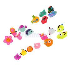 Cute Soft Plastic Float Sqeeze Sound Baby Wash Bath Play Animals Model Toys