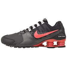 NIB Women's Nike SHOX AVENUE Running Shoes 844131 003 Black/Ember Glow-White