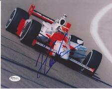 HELIO CASTRONEVES  Signed 8x10 Color Glossy Photo #2  JSA Sticker