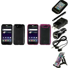 For LG Connect 4G MS840 TPU Hard Case Skin Phone Cover Accessories