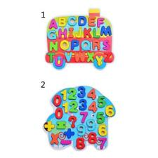 Kid Colorful Wood Toys Wooden Puzzle Alphabet / Numbers Jigsaw Preschool Toy